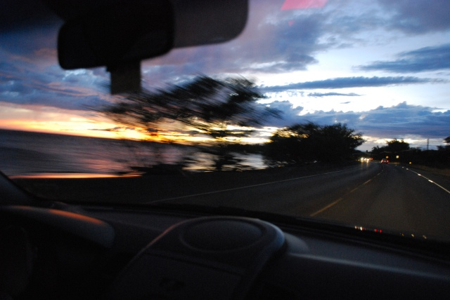 Maui - The Road to Lahaina at Sunset