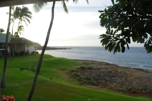 View from Room at Four Seasons Manele Bay